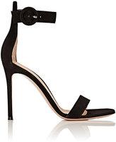 Gianvito Rossi Women's Portofino Ankle-Strap Sandals-BLACK
