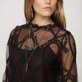 Denim & Supply Ralph Lauren Buttoned-Back Mesh Blouse