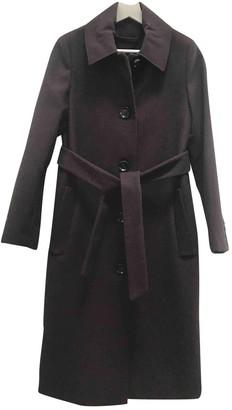 MANGO Brown Wool Coat for Women