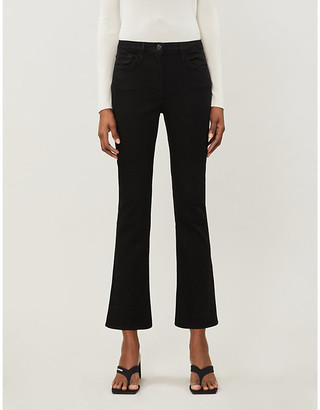 3x1 Bootcut mid-rise slim-fit stretch-denim jeans