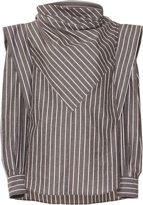 Isabel Marant Welly Striped Cotton-Blend Shirt