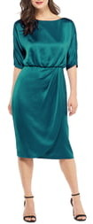 Maggy London Draped Blouson Dress