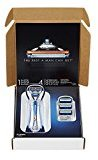 Gillette Fusion Razor Blade Bundle (1 Manual Razor and 4 Razor Blade Refills)