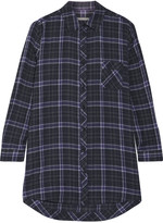Skin Molly plaid stretch-cotton gauze nightshirt