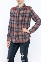3J Workshop Embroidered Western Plaid Shirt