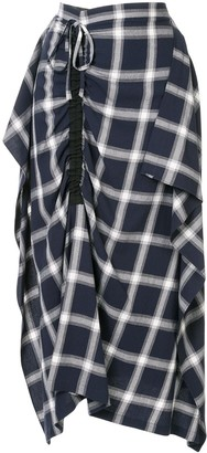 McQ Asymmetric Check Skirt