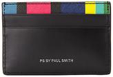 Paul Smith Rainbow Stripe Card Holder, Black
