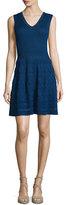M Missoni V-Neck Knit Sleeveless Dress, Marine