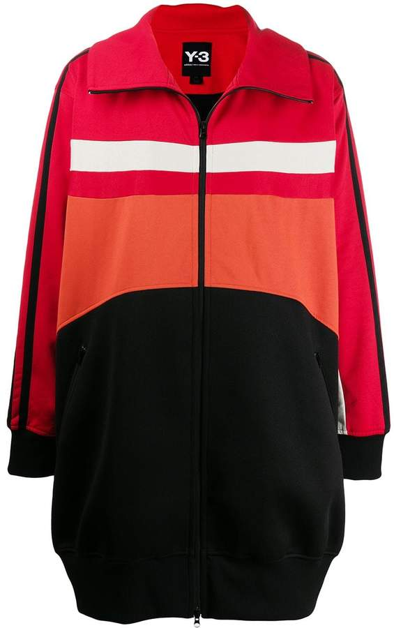 e7291fe53 panelled shell and jersey coat