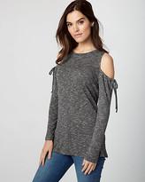 Le Château Knit Cold Shoulder Top