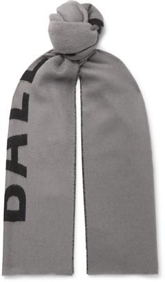 Balenciaga Reversible Intarsia Wool Scarf