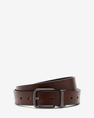 Express Reversible Matte Gun Metal Prong Buckle Belt