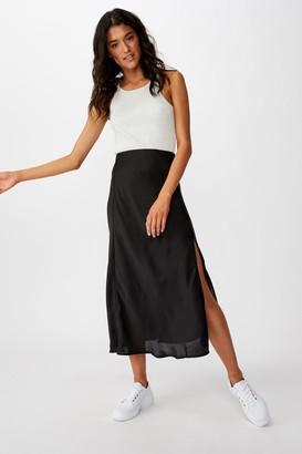 Cotton On Belle Split Midi Skirt