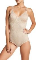Joan Vass Floral Lace Control Bodysuit (Plus Size Available)