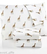 Martha Stewart Whim Collection 100% Cotton Sheet Set Sparkley Giraffes Queen