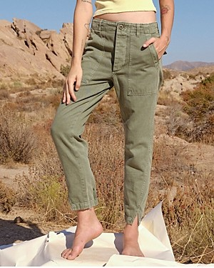 Amo Army Twist Split Hem Pants