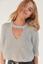 Silence & Noise Silence + Noise Maddie Cutout Cropped Sweater