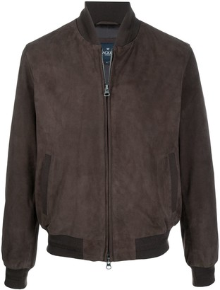 Hackett Leather Bomber Jacket