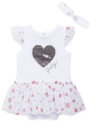 Juicy Couture Baby Girl's 2-Piece Skirted Sunsuit Headband Set