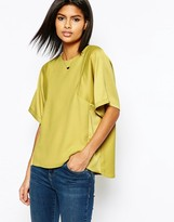Asos Matte And Shine Insert Tee