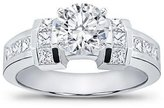 Natural Diamonds of NYC 1.40 ct TW Round Cut Diamond Enaement Rin in 14 kt White old in Size 3.5