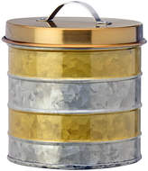 Global Amici Galvanized & Gold 52-Oz. Canister