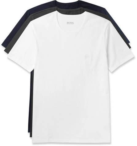 HUGO BOSS Three-Pack Cotton-Jersey T-Shirts - Men - Multi