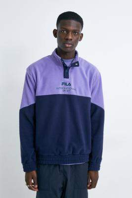 Fila Paradise UO Exclusive Lilac Fleece Pullover Jacket - purple S at Urban Outfitters
