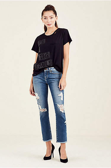 True Religion Its In The Details Womens Tee