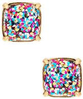 Kate Spade Small Square Glitter Stud Earrings