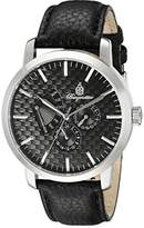 Burgmeister Men's Quartz Watch with Black Dial Analogue Display and Black Leather Bracelet BM219-122