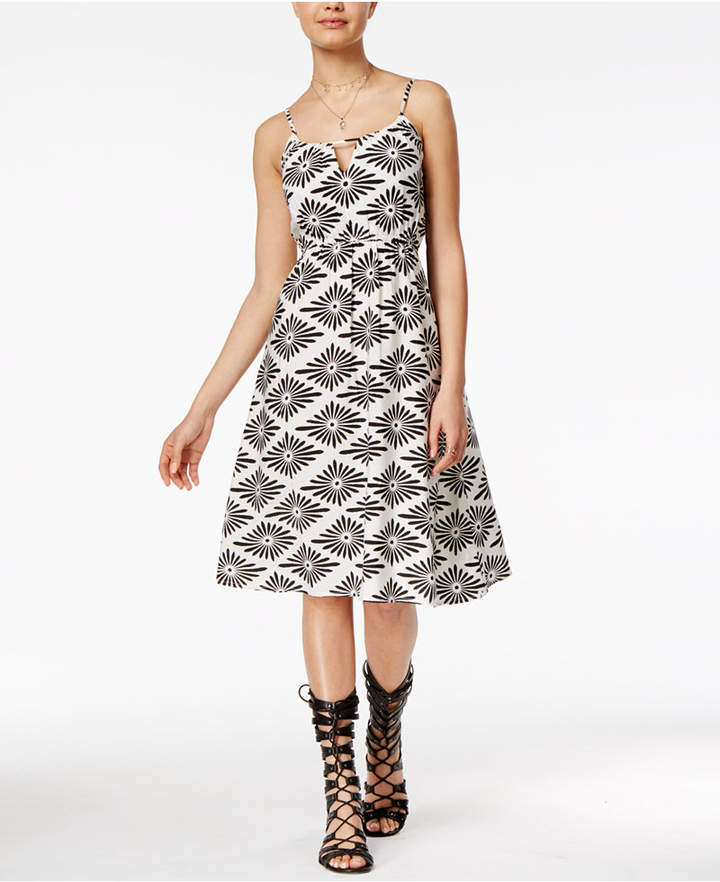 Volcom Juniors' Rough Edges Printed Fit & Flare Dress