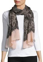Calvin Klein Silky Lace-Print Scarf