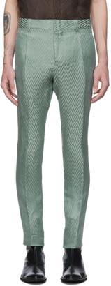 Haider Ackermann Green Athenaes Casual Trousers
