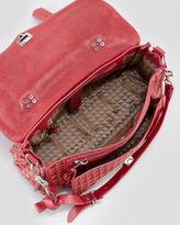 Proenza Schouler PS1 Triangle-Print Medium Satchel Bag, Orange/Red