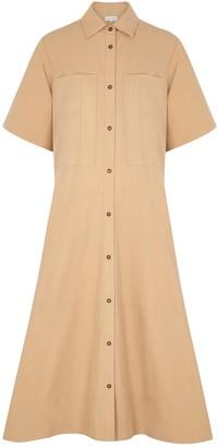 Lee Mathews Kei Camel Cotton Shirt Dress