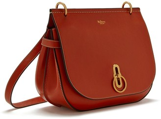 Mulberry Amberley Satchel Red Ochre Silky Calf