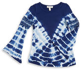Jessica Simpson Girls 7-16 Crocheted Tie Dye Top