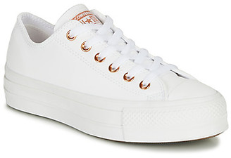 Converse CHUCK TAYLOR LIFT CLEAN CRAF LEATHER women's Shoes (Trainers) in White