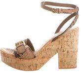 Stella McCartney Embossed Leather Platform Sandals
