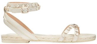 Kate Spade Mai Tai Studded Ankle-Strap Flat Sandals