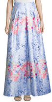 Phoebe Couture Floral-Print Ball Skirt
