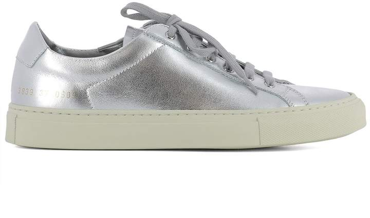 Common Projects Silver Leather Sneakers