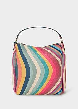 Paul Smith Women's 'Swirl' Print Leather Mini Hobo Bag