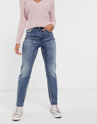Pimkie recycled cotton straight leg jean in blue