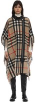 Burberry CHECK VIRGIN WOOL BLEND CAPE