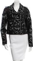 Diane von Furstenberg Leather-Trimmed Theodora Jacket