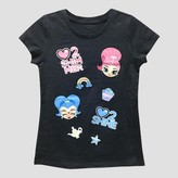 Nickelodeon Girls' Shimmer and Shine T-Shirt - Charcoal Heather