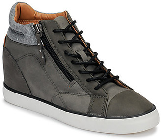 Esprit STAR WEDGE women's Shoes (High-top Trainers) in Brown