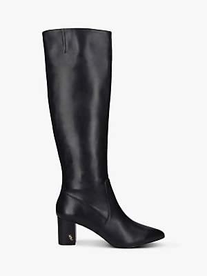 Kurt Geiger London Burlington Leather Knee High Block Heel Boots, Black